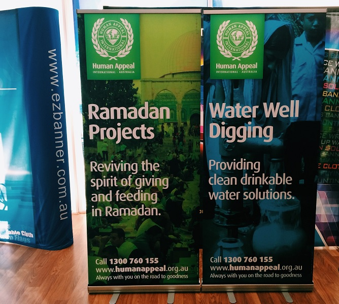 Fabric Exhibition Stand Job : Pull up banners for human appeal ezbanner gallery