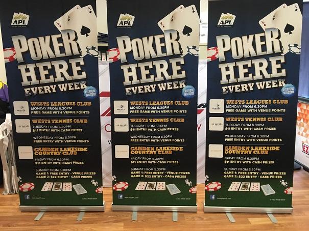 Pull Up Banner - Poker